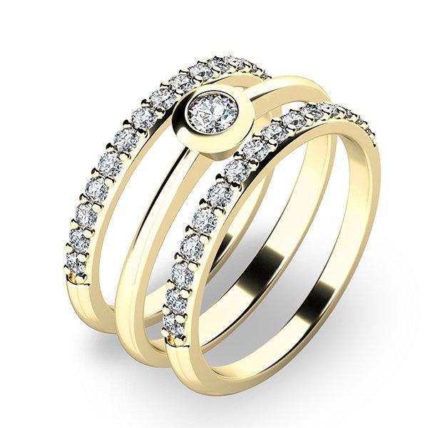 Set zásnubních prstenů ze žlutého zlata 10807-SET02-ZZ