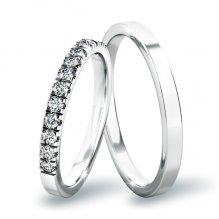Snubní prsteny z bílého zlata SP-61061