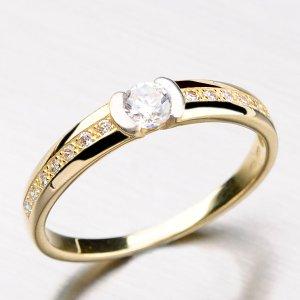 Krásný prsten ze žlutého zlata DZ2106-ZL