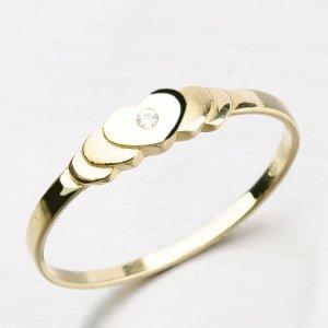 Romantický prsten ze zlata DZ1876-ZL