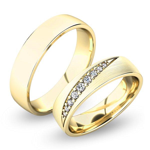 Snubní prsteny ze žlutého zlata SP-61051
