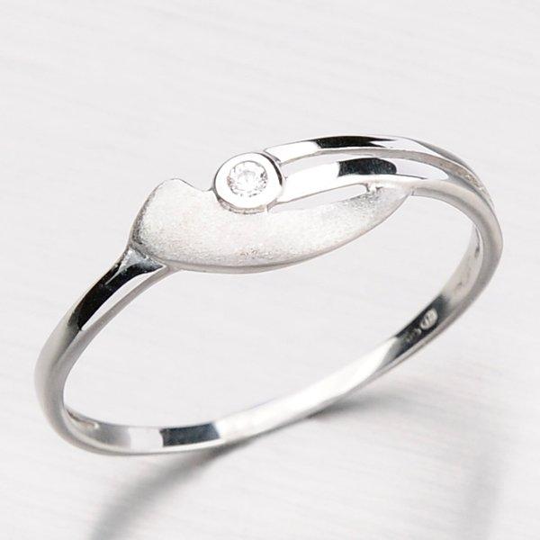 Zlatý prsten se zirkonem DZ1662-B