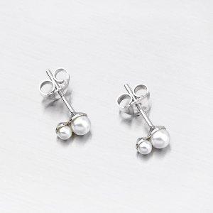 Stříbrné náušnice s perlami 9146D4-3