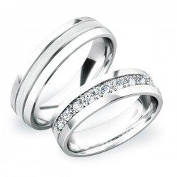 Stříbrné snubní prsteny SP-61043-Ag