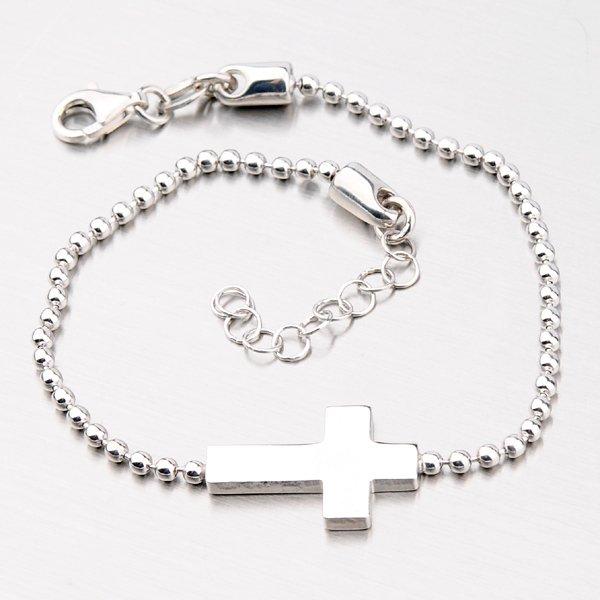 Krásný náramek s křížkem B1604183-1264-SLX