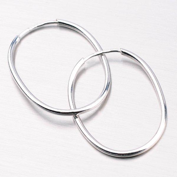 Stříbrné oválné kruhy 7687OV