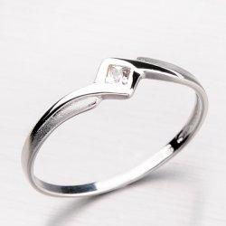 Krásný symetrický prsten ze zlata DZ1113-B