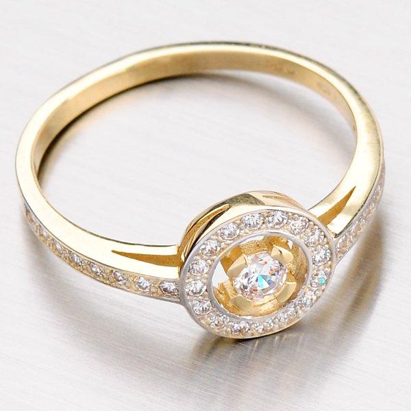 Krásný kruhový prsten ze zlata DZ1990-ZL