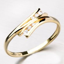 Zlatý prsten zdobený zirkony DZ1950-ZL