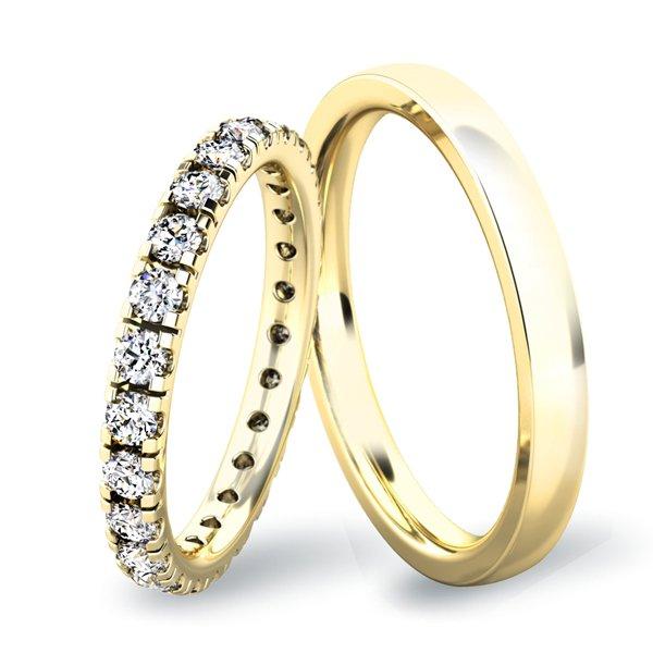 Snubní prsteny ze žlutého zlata SP-61045