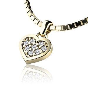Srdce s brilianty 10881-ZL
