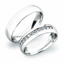 Snubní prsteny ze stříbra SP-61024-Ag