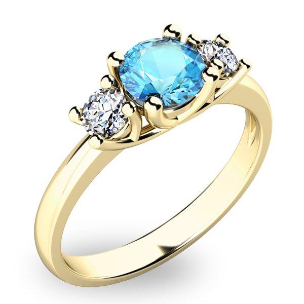 Prsten s topazem a diamanty 10803Z-TPZ
