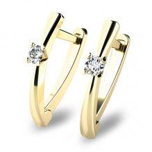 Visací náušnice s diamanty 10830-ZL