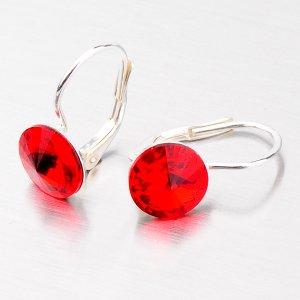 Náušnice ze stříbra s červeným krystalem N311ORT-JK