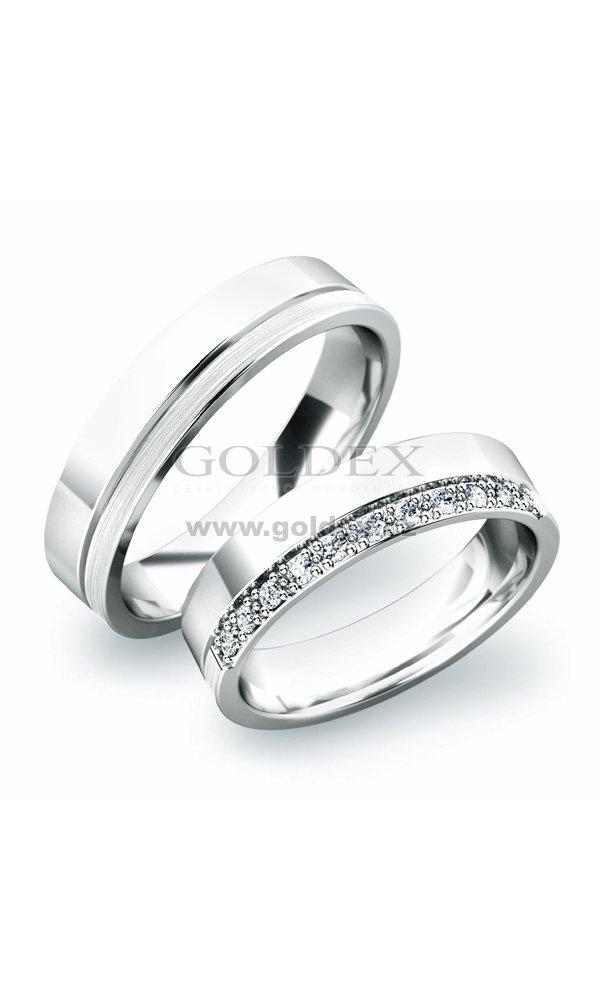 Stribrne Snubni Prsteny Sp 61039 Ag Goldex Cz