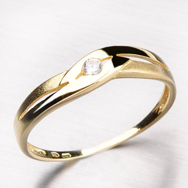 Zlatý prsten se zirkonem DZ1776-ZL