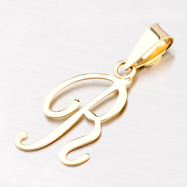 Přívěsek - zlaté písmenko R 43-2937-R