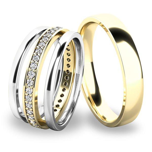 Set snubních prstenů ze zlata SP-61044-SET02