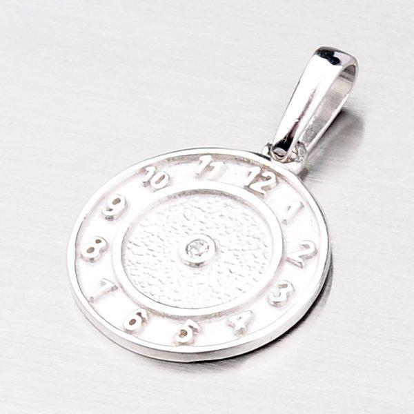 Přívěsek křtící hodiny z bílého zlata 687-0043