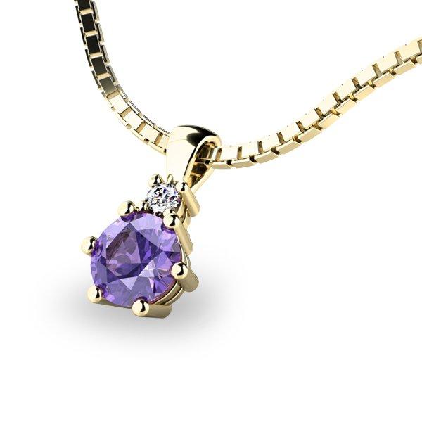 Přívěsek s tanzanitem a diamantem 10859Z-TZNT