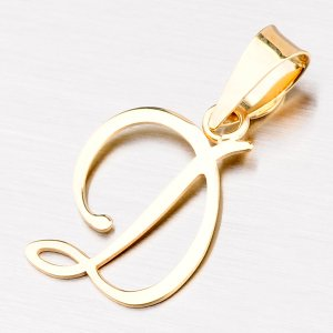 Přívěsek - zlaté písmenko D 43-2937-D
