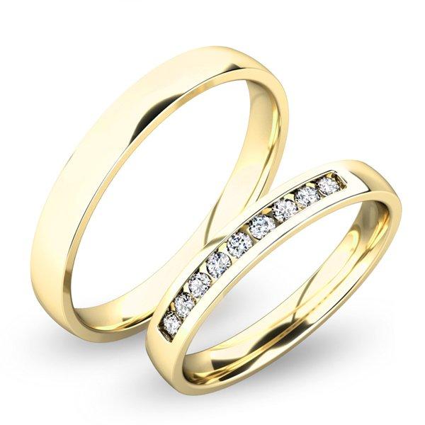 Snubní prsteny ze žlutého zlata SP-61047Z