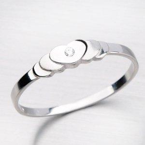 Romantický prsten ze zlata DZ1876-B