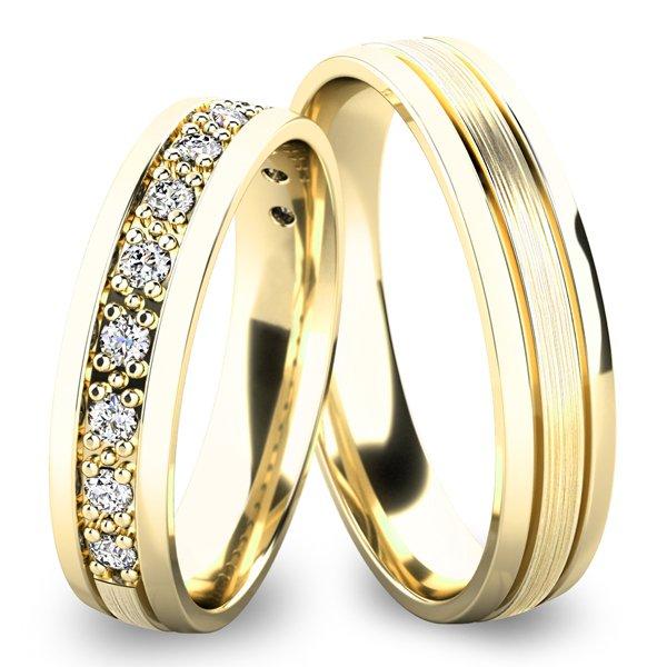 Snubní prsteny ze žlutého zlata SP-61052Z