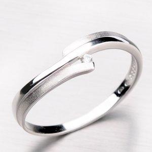 Zlatý prsten s lesklou a matnou povrchovou úpravou DZ2000-B