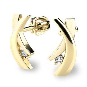 Náušnice s diamanty 10854-ZL