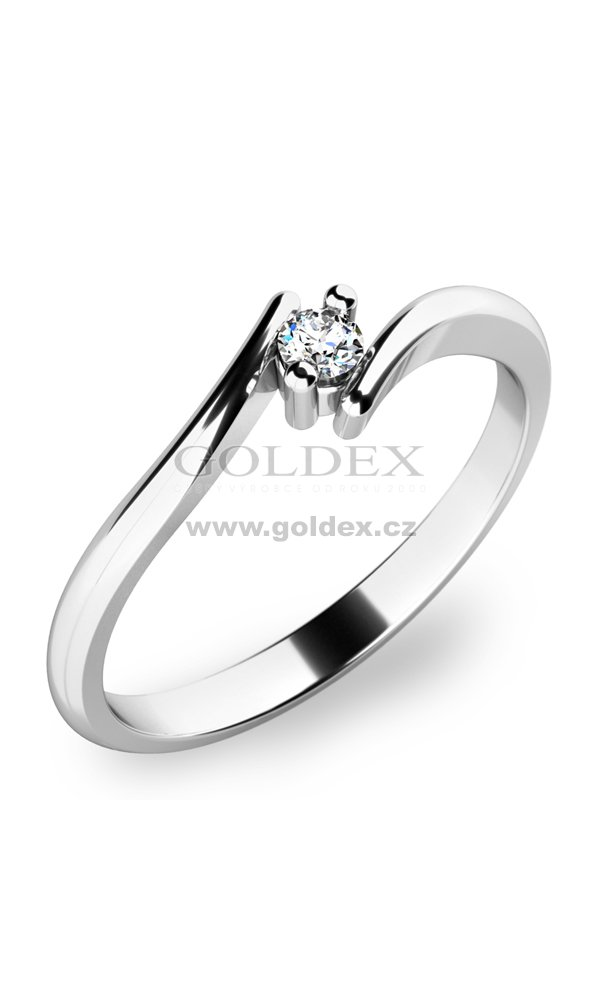 Prsten S Diamantem 10846 Goldex Cz