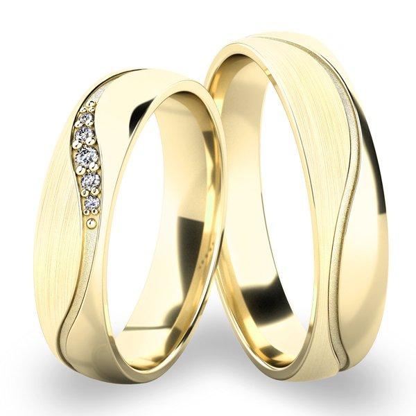 Snubní prsteny ze žlutého zlata SP-61099Z