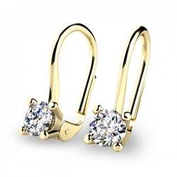 Visací diamantové náušnice 10827-375-ZL