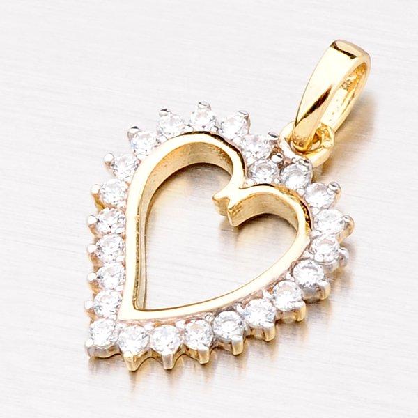 Zlatý přívěsek ve tvaru srdce 13-155