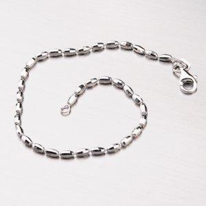 Stříbrný náramek z oválných ozdob CHRS-RICE-D/C-002