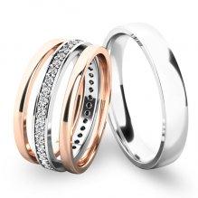 Set snubních prstenů ze zlata SP-61044-SET01