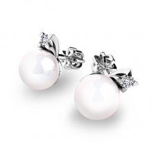Pecky s perlami a diamanty 10890-B-FW