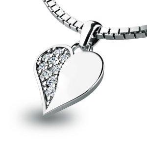 Zlatý přívěsek s diamanty 10880-B
