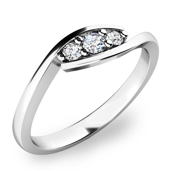 Prsten s diamanty 10847