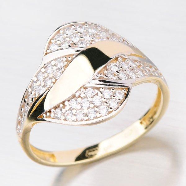 Prsten v kombinaci žluté a bílé barvy 41-NY23