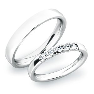 Snubní prsteny ze stříbra SP-61030-Ag