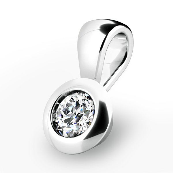 Zlatý přívěsek s diamantem 10826-B