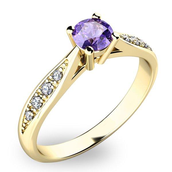 Dámský prsten s tanzanitem a diamanty 10745Z-TZNT