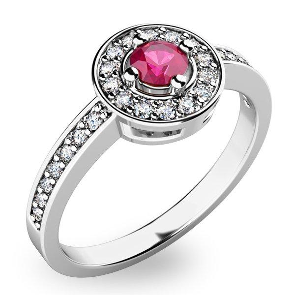 Krásný prsten s turmalínem a diamanty 10802B-TRML