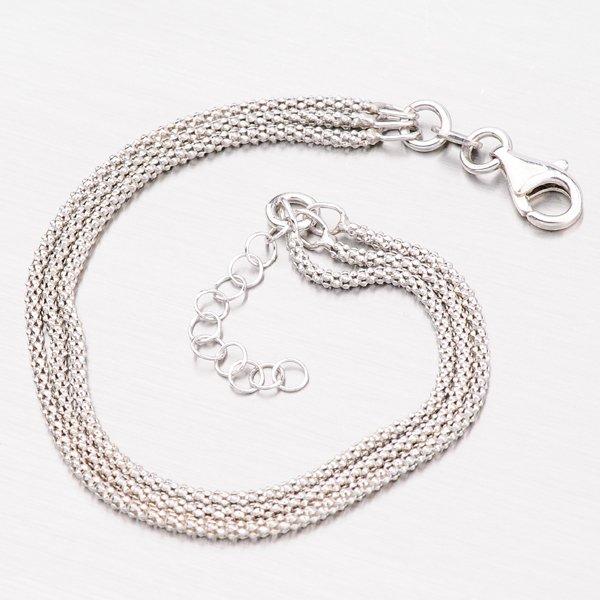 Trojitý stříbrný náramek B1400766-1264-SLX