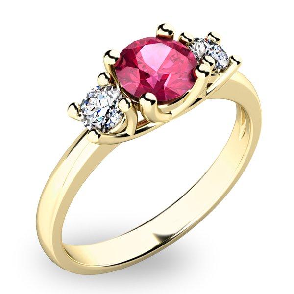 Prsten s turmalínem a diamanty 10803Z-TUR