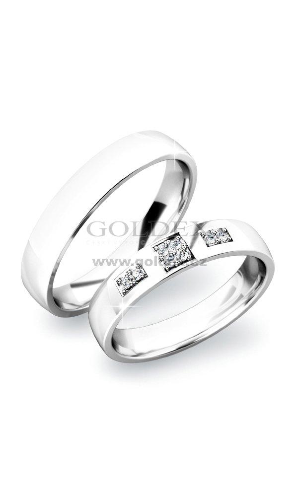 Snubni Prsteny Ze Stribra Sp 61034 Ag Goldex Cz