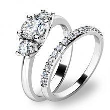 Zlatý set zásnubních prstenů 10803-SET01-BB