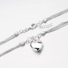 Stříbrný náhrdelník se srdcem XKXC-5001